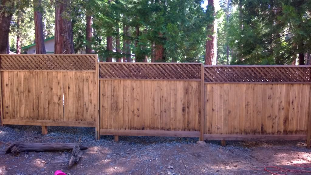 Fence Staining and Painting in Amador County