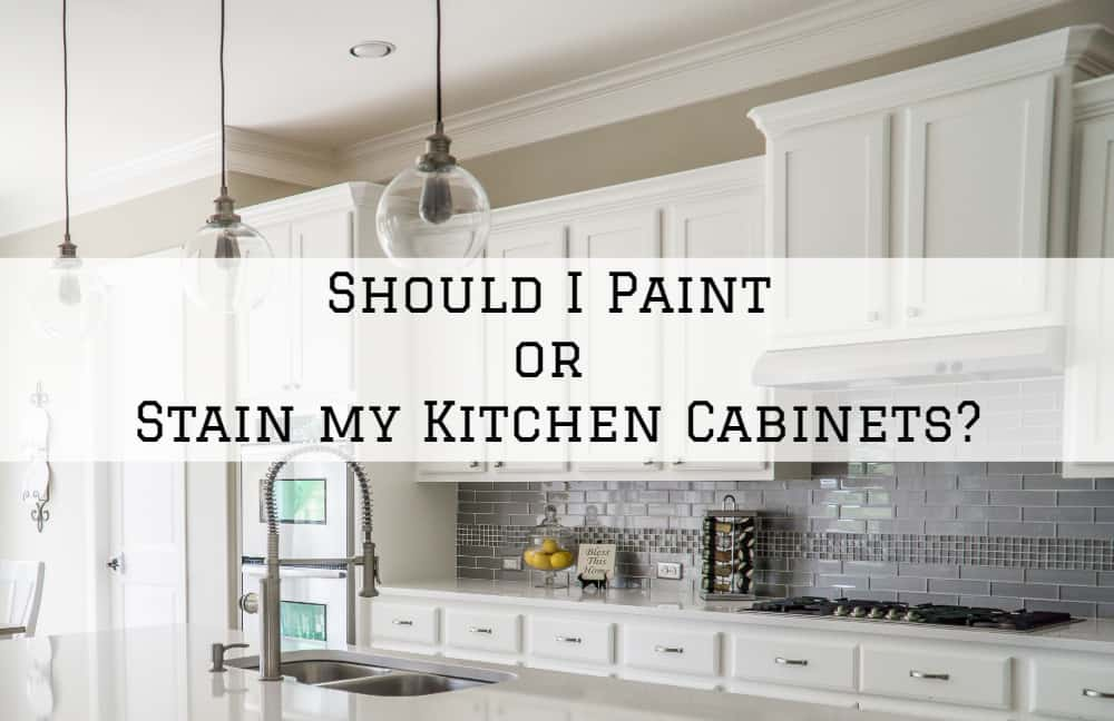 Should I Paint or Stain my Kitchen Cabinets?