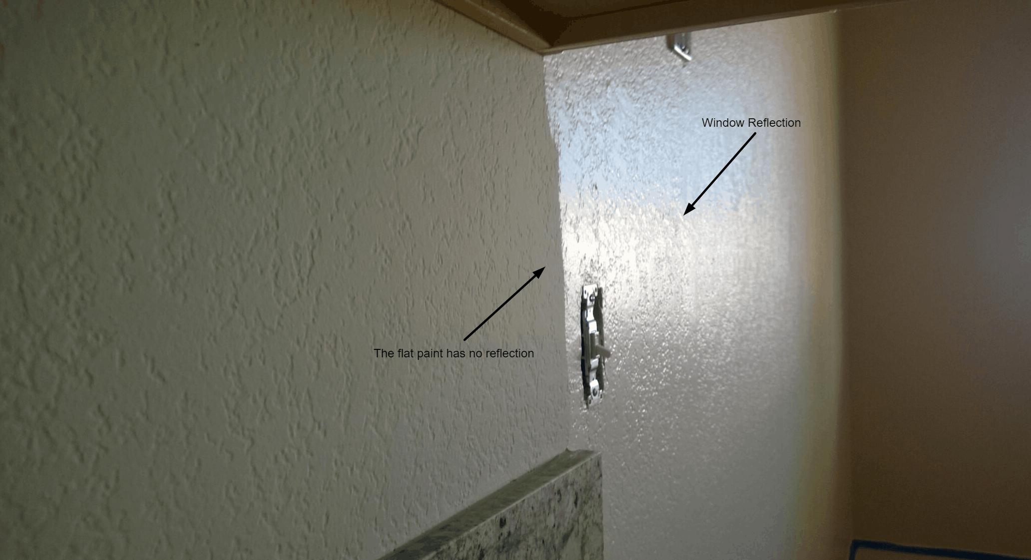 El Dorado Hills Interior Painter Sheen Reflection From Project